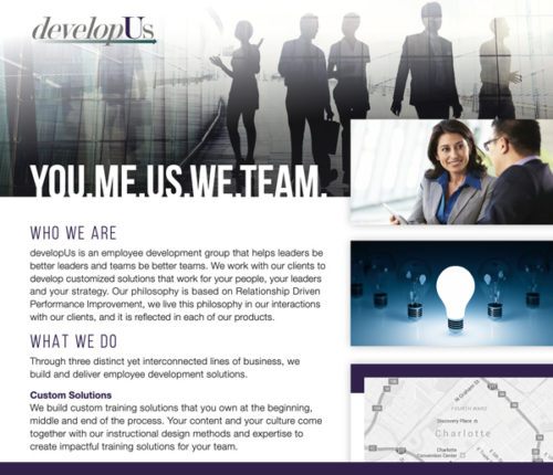 About developUs Brochure